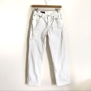 J crew mid rise cropped wide leg jeans